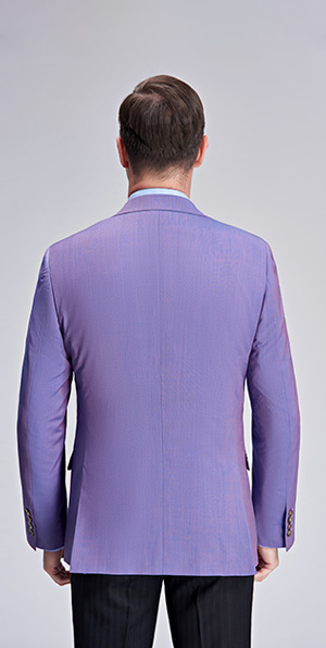 Romantic purple slim fit suit jacket