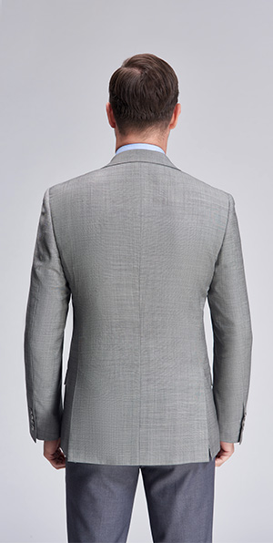 Classic grey business fit suit blazers.