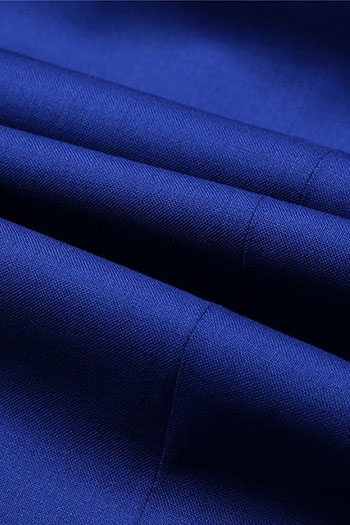 Blue smooth wool blended Fashionable pants