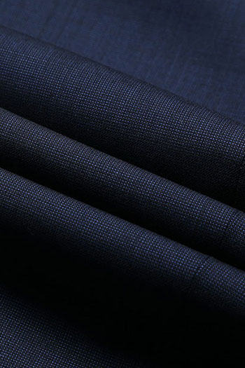 Navy blue smooth wool blended Business  pants