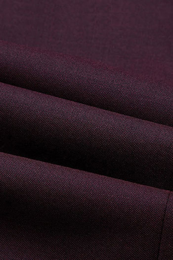 purple smooth wool blended Fashionable pants