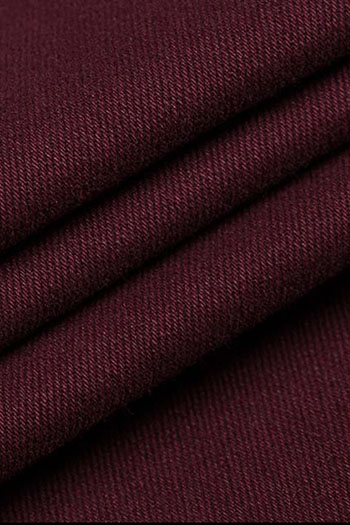 Wine red classic business pants
