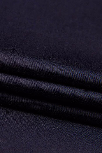 Dark blue cotton business trousers for men