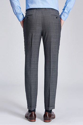 Gray square Modern and fashionable suit pant