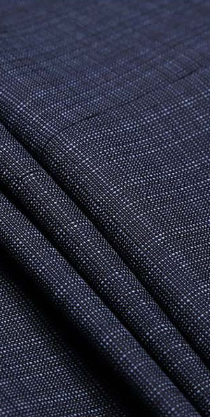 blue samll grain 100% wool suit