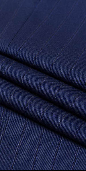 Navy blue 100% wool slim fit suit