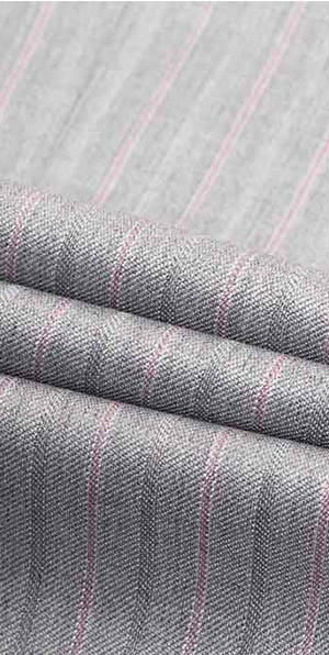 Pink stripe grey high-quality suit for men