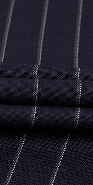 Blue stripes pure wool high quality suit