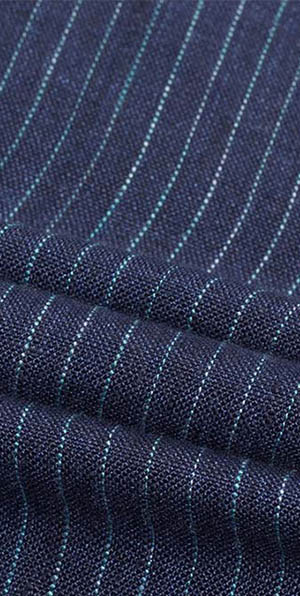 Blue stripes 100% linen fine suit