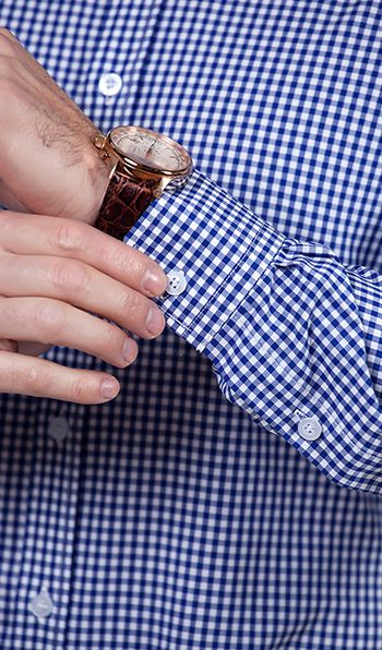 Modern blue and white check men shirts
