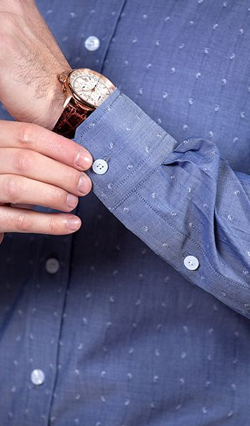 Dark  blue with White dots men business shirts