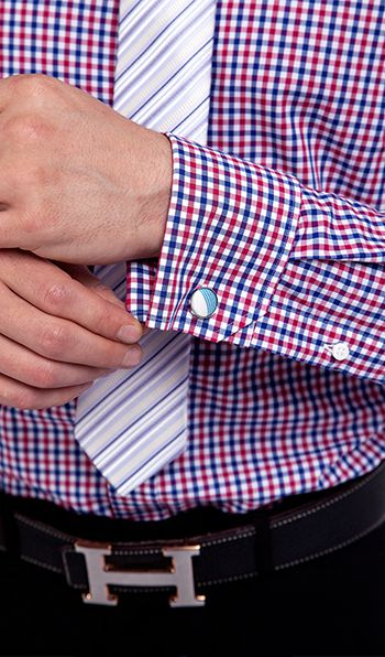Blue and Red Checks Made to Measure Shirt