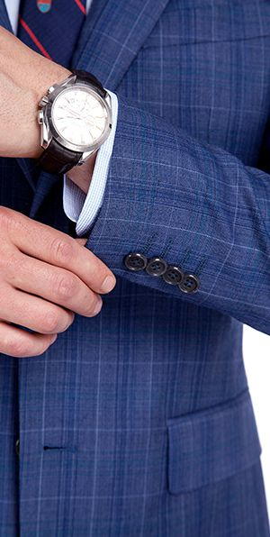 New Arriving Premium Blue Checks Wool Suit for Men