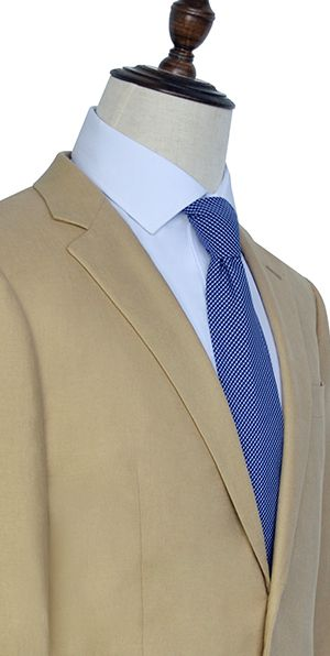 Light brown linen Notched lapel casual suit for mrn