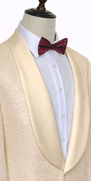 Champagne jacquard aristocratic customized suit