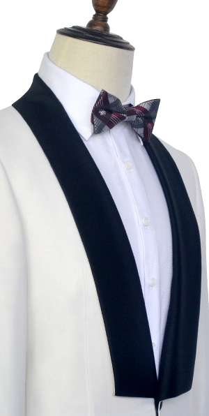 White black knife collar wedding suit