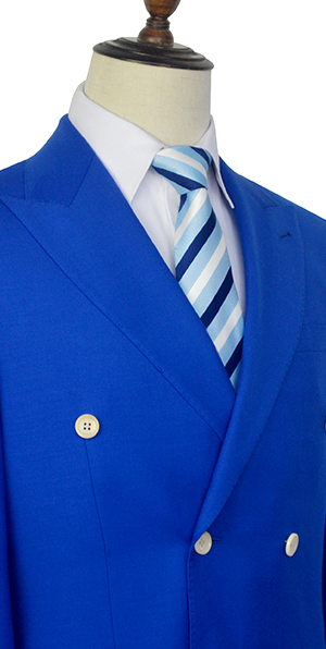 royal blue Double six button custom suit