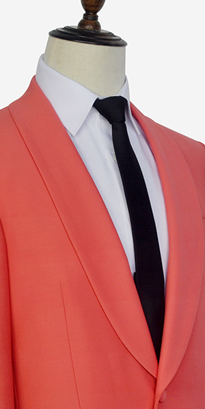 Watermelon red wool custom suit