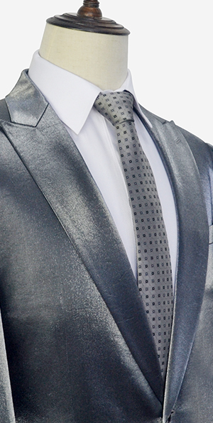 Grey shiny custom suits